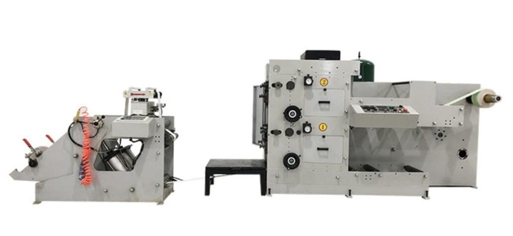2 COLORS FLEXO MACHINE FOR PAPER TRAW
