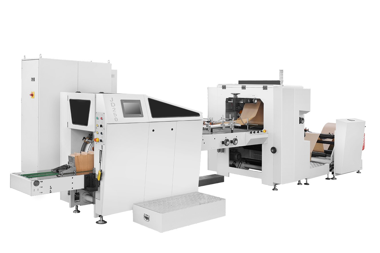 G 250 flat and satchel paper bags making machine